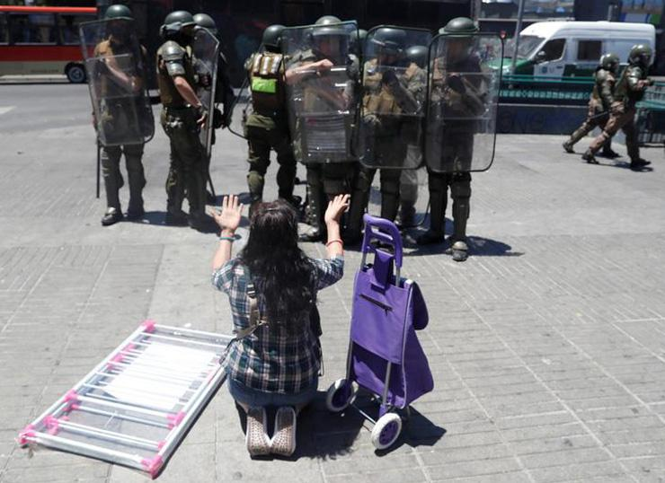 women protester