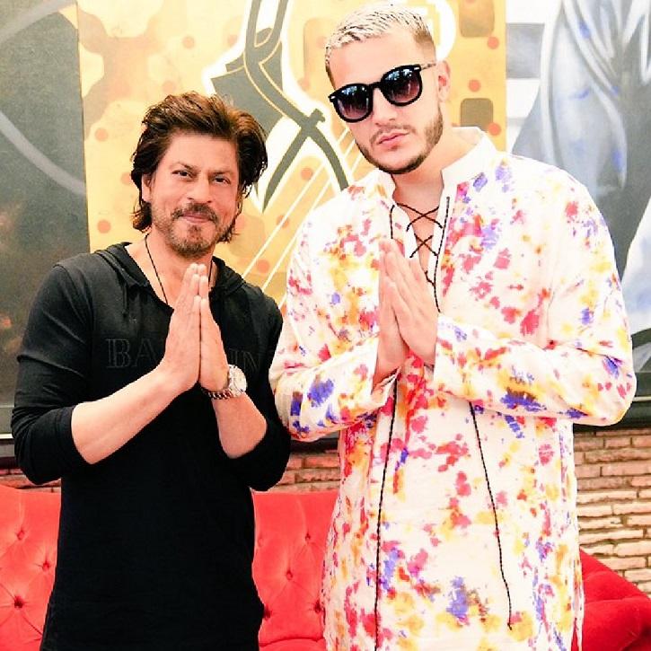 DJ Snake with Shah Rukh Khan.
