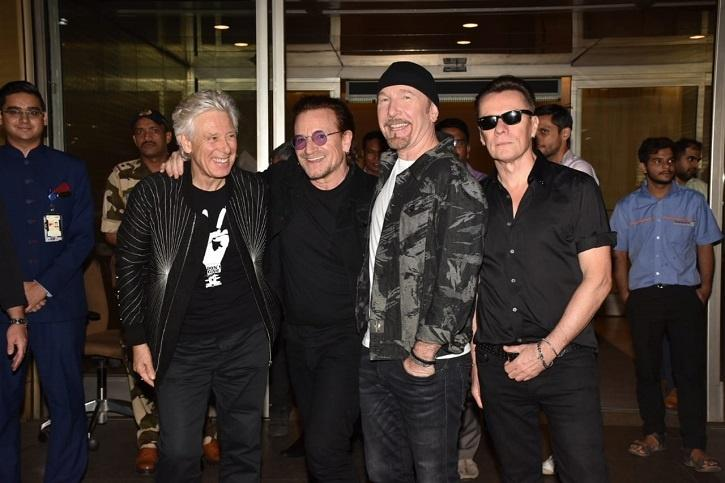 Irish Rock Band U2 Lands In Mumbai For Their  First Ever India Concert
