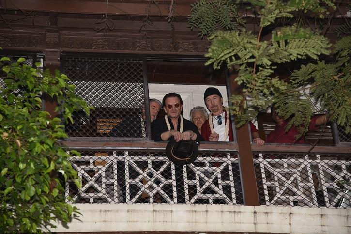Irish Rock Band U2 Lands In Mumbai, visits Mani Bhavan (Mahatma Gandhi's residence) in Mumbai.
