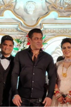 In A Sweet Gesture, Salman Khan Attends Wedding Reception Of His Make-Up Man