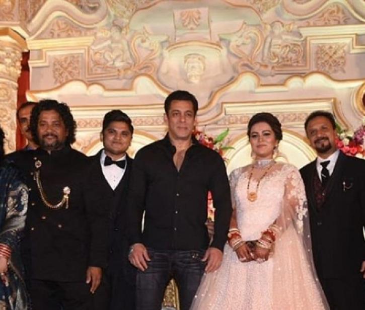 Salman Khan Attends Wedding Reception Of His Make-Up Man