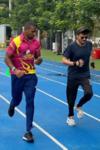 Anil Kapoor Trains With Jamaican Sprinter Yohan Blake