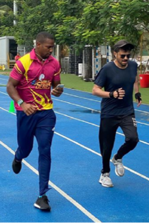 Anil Kapoor Trains With Jamaican Sprinter Yohan Blake