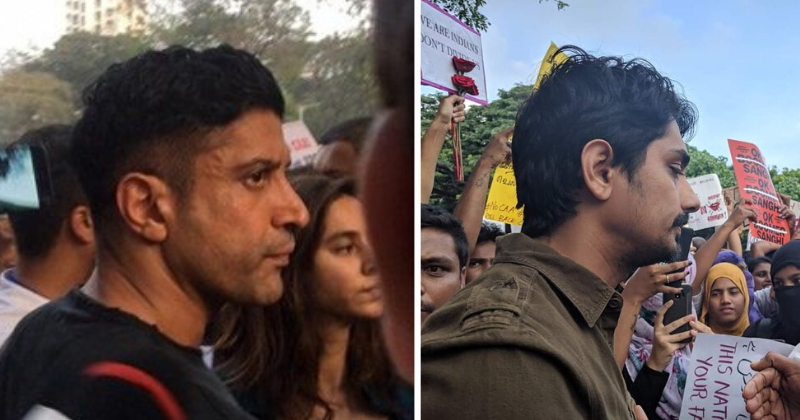 Farhan Akhtar & Siddharth Participate In CAA Protest In Mumbai, Other Celebs Extend Support