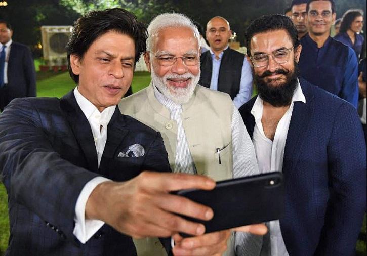 Aamir Khan and Shah Rukh Khan meet PM Modi.