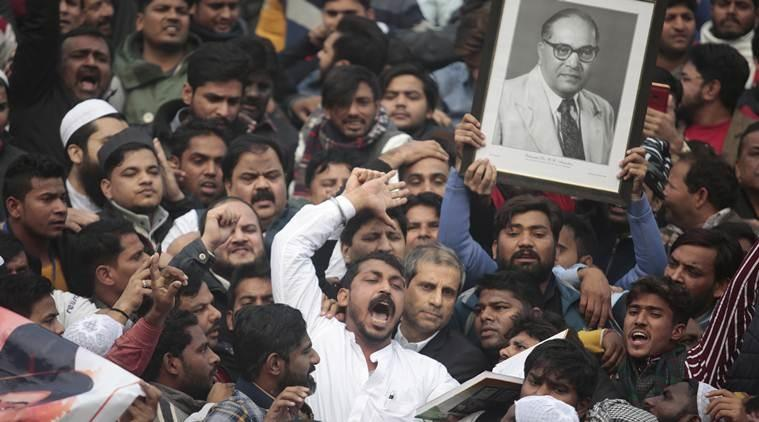 Jama Masjid protests against CAA and NRC