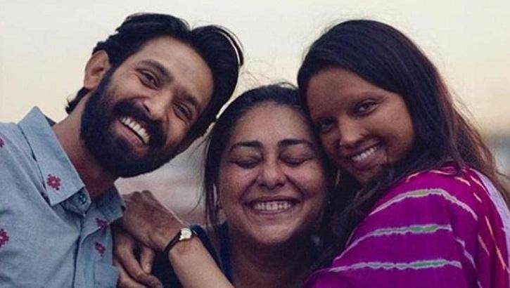 Meghna Gulzar, Vikrant Massey and Deepika Padukone in Chhapaak.