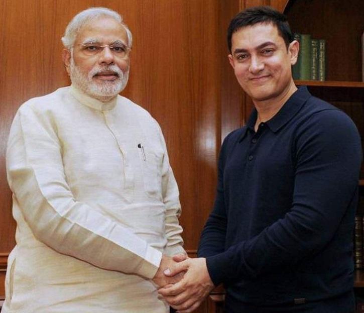 Aamir Khan meets PM Modi.