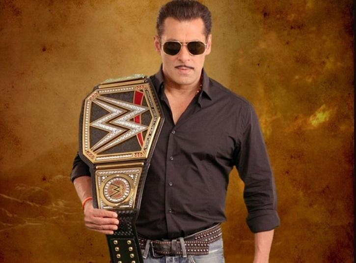 WWE Gifts Salman Khan A Custom-Made Championship Belt To Celebrate The Release Of