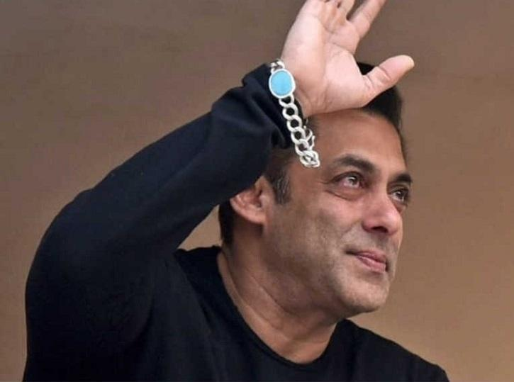 Salman Khan greets fans outside his home on his 54th birthday.