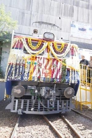 Indian Railways BHEL Electric Locomotive Electric Train Regenerative Braking System Electric Loco