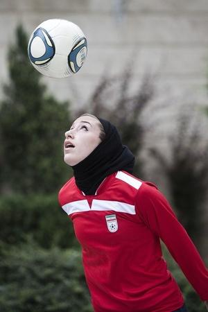 iran women playing football
