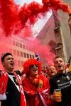 Liverpool fans were in the mood