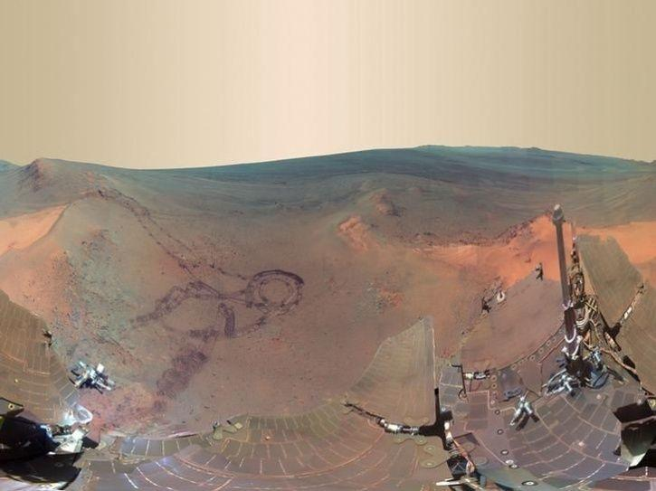 mars rover getting dark - photo #19
