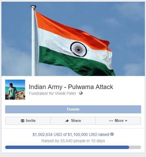 Viveik Patel, Pulwama attack, Virginia, Facebook Fundraising, CRPF, Martyrs, DIG