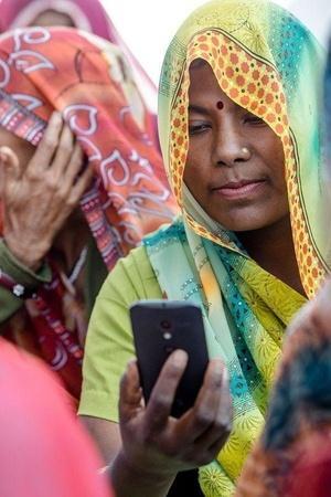 women mobile