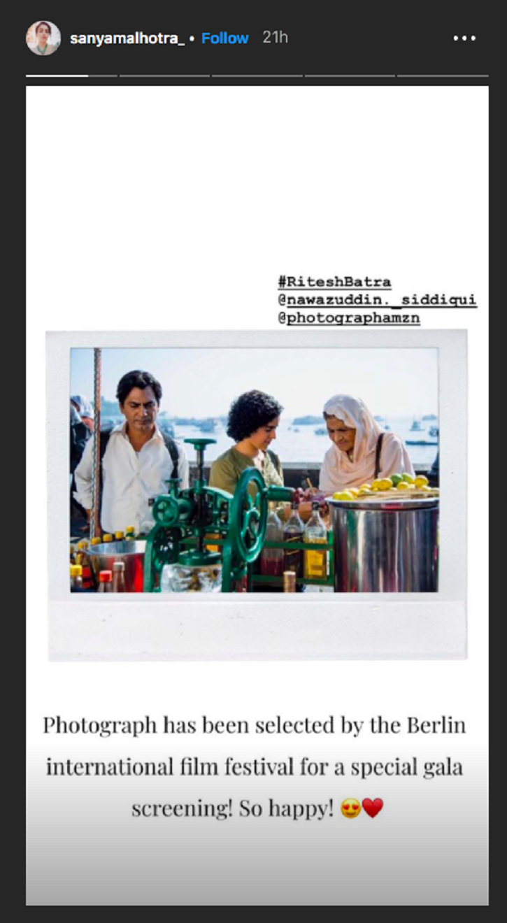 Before India, Nawazuddin's Photograph To Premiere At Sundance & Berlin Film Festivals 2019
