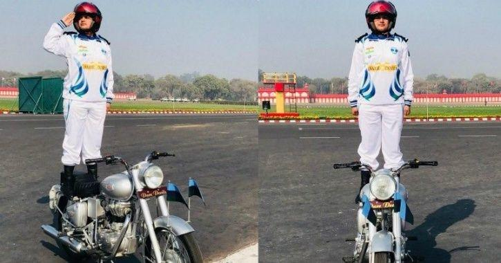Captain Shikha Surabhi, Republic Day, Army Daredevils Team, Corps of signal, first female officer