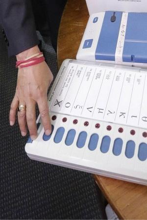 First EVM Voting