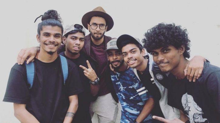 Ranveer Singh with street rappers.
