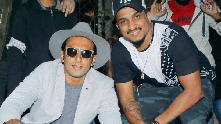 Rapper Divine with Ranveer Singh.