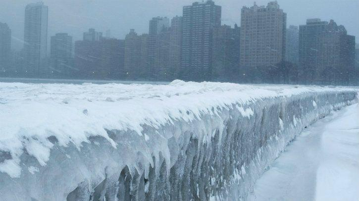 record cold weather across chicago and most us due to polar vortex antarctica
