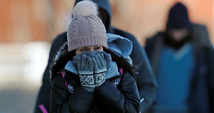 record us cold temperature polar vortex antarctica -40 centigrade