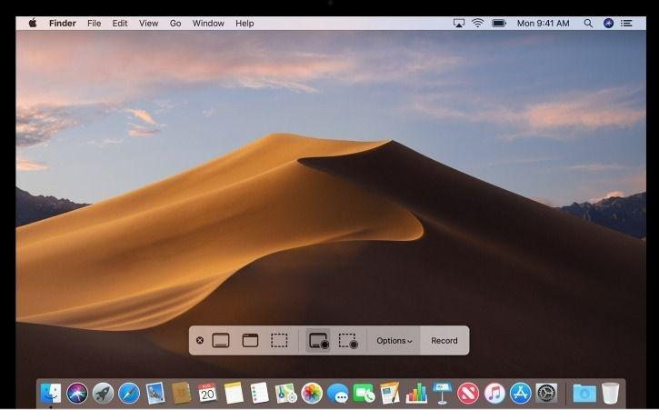 screen recording Mojave