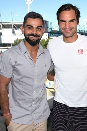 Virat Kohli meets Roger Federer at Australian Open