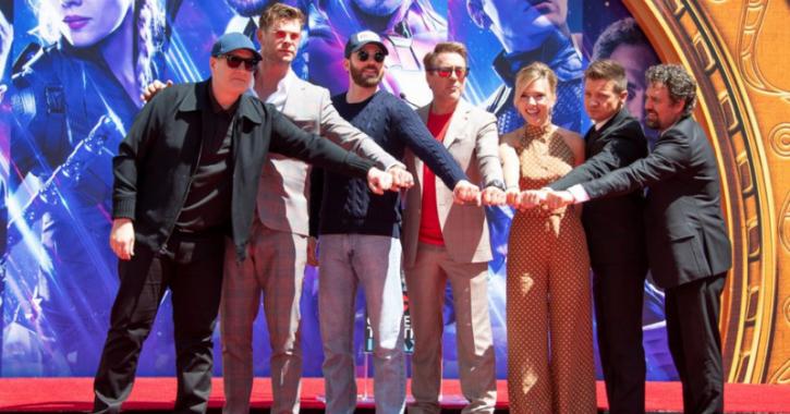 Avengers Endgame reunion at San Diego Comic Con.