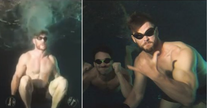 Chris Hemsworth's Intense Underwater Workout Is The New Fitness Fad That You'd Want To Try