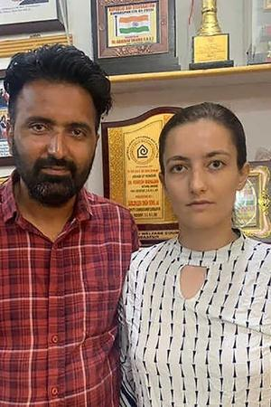 danish woman married punjab drug addict