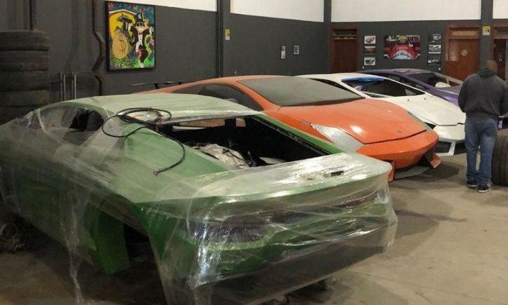 Fake Luxury Cars, Fake Lamborghini, Fake Ferrari, Brazil Car Factory Bust, Lamborghini Replica For S