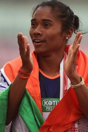 Hima Das is on the top of the world
