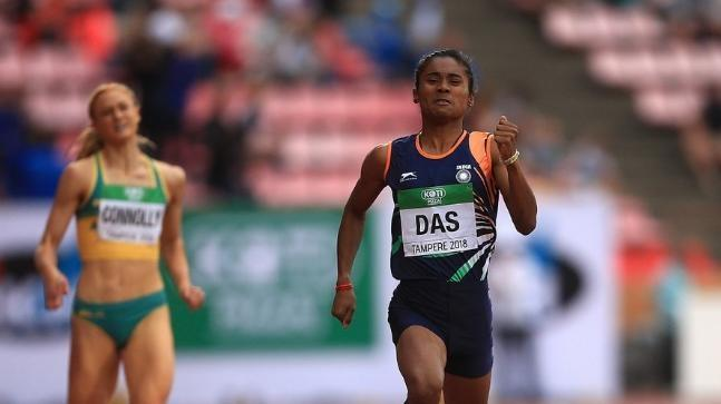 Hima Das is winning