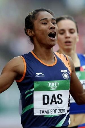 Hima Das won 4 gold medals in 15 days