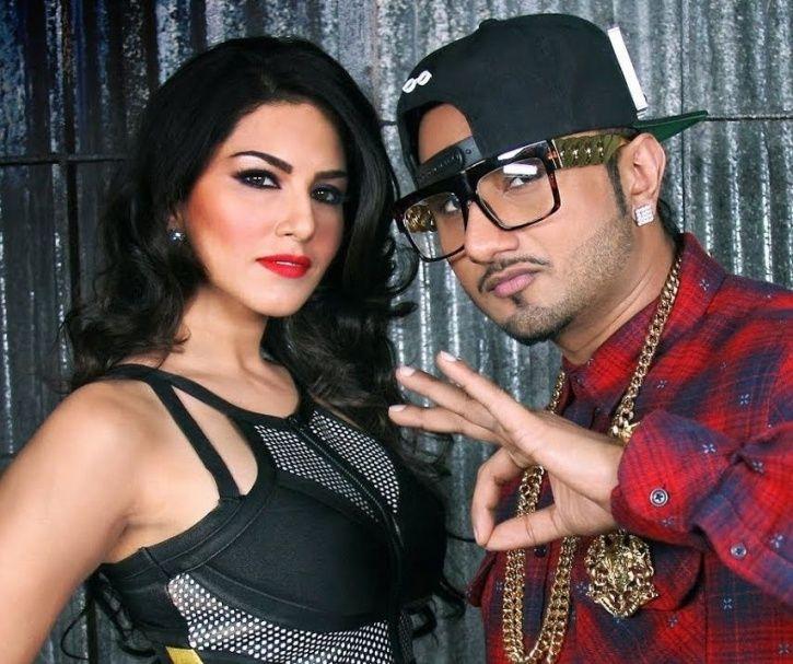 Honey Singh and Sunny Leone in Jhootha Kahin Ka song.