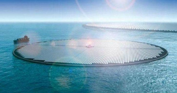 How To Solve Climate Change? With Giant Floating Solar Farms That Suck CO2 & Make Electricity
