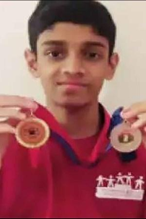 Hritik Machaiah Alamanda Win Two At Medals International Games