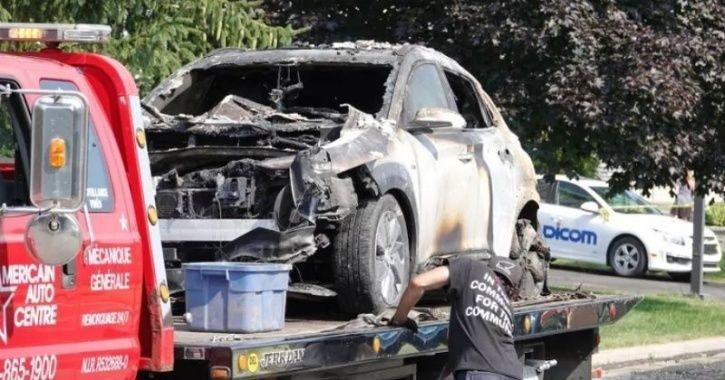 Hyundai Kona Explosion, Kona Explosion, Kona Battery Fire, Hyundai Kona Catches Fire, Electric Car B