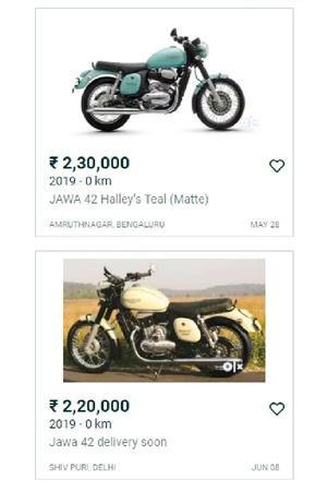 Jawa Motorcycles Delivery Overpriced Jawa Bikes Jawa Bikes On OLX Jawa Motorcycles OLX Listing S