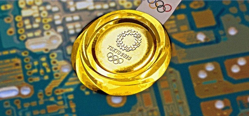 Olympic medal recycled