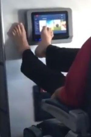 Passenger Swipes With Feet