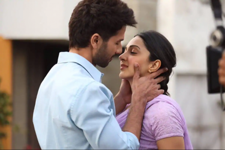 Shahid Kapoor and Kiara Advani in Kabir Singh.