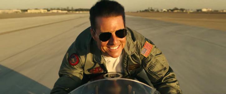 Tom Cruise in Top Gun: Maverick trailer.