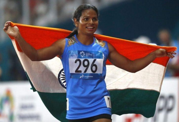 A picture of Athlete Dutee Chand.
