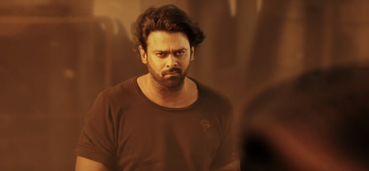 A still of Prabhas in Saaho teaser.