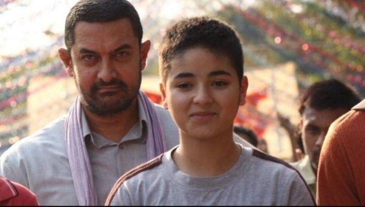Aamir Khan and Zaira Wasim in Dangal.