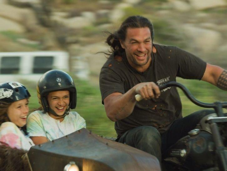 Jason Momoa created a Harley Davidson from scratch with the help of 11-year-old daughter Lola and 10